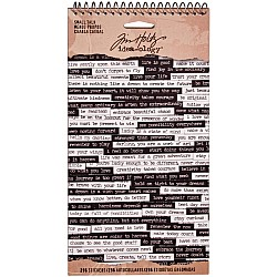 Tim Holtz Idealogy Spiral Bound Sticker Book - Small Talk (6 sheets/pkg)