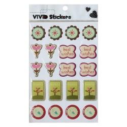 Vivid Stickers - Thankful