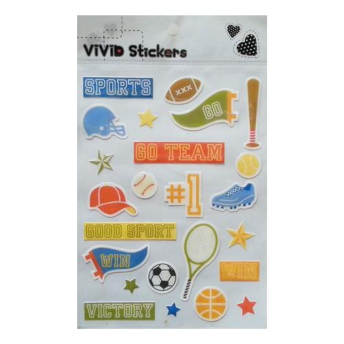 Vivid Epoxy Stickers - Good Sport