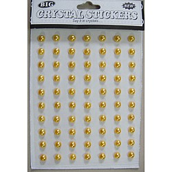 Say it in crystals - Medium Pearl Stickers - Yellow