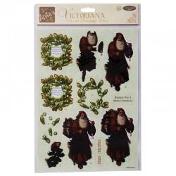 DoCrafts A4 Victoriana Decoupage Pack - Old Saint Nicholas
