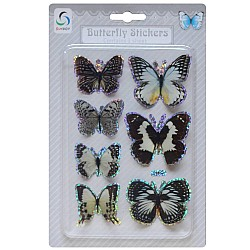 Butterfly Stickers - Black and White