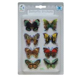 Butterfly Stickers - Multicolor Dark