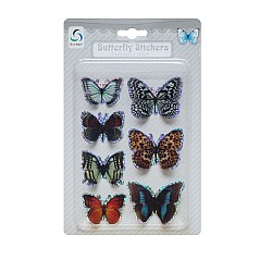 Butterfly Stickers - Muted Dark Collection