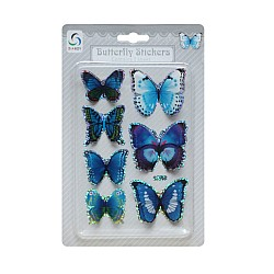 Butterfly Stickers - Shades of Blue