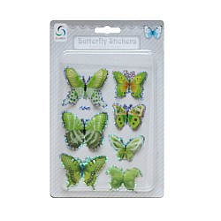 Butterfly Stickers - Shades of Green