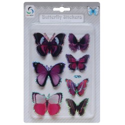 Butterfly Stickers - Shades of Pink