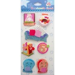 Christmas Glitter Sticker