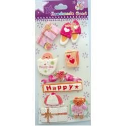 Happy Day Glitter Sticker