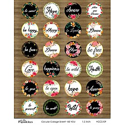 Papericious Circular Collage Sheet - Be You