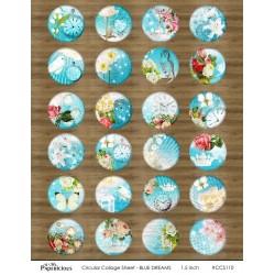 Papericious Circular Collage Sheet - Blue Dreams