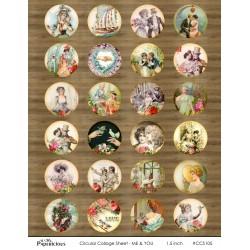 Papericious Circular Collage Sheet - Me & You