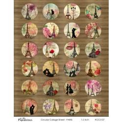 Papericious Circular Collage Sheet - Paris
