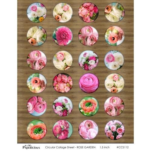 Papericious Circular Collage Sheet - Rose Garden