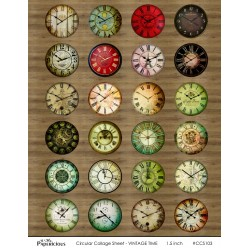 Papericious Circular Collage Sheet - Vintage Time