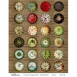 Papericious Circular Collage Sheet - Vintage Time