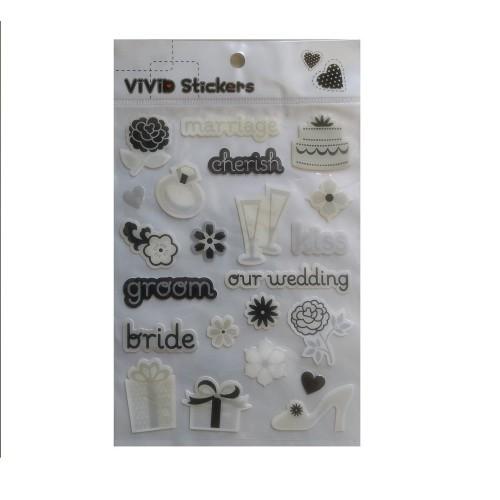 Vivid Epoxy Stickers - Wedding