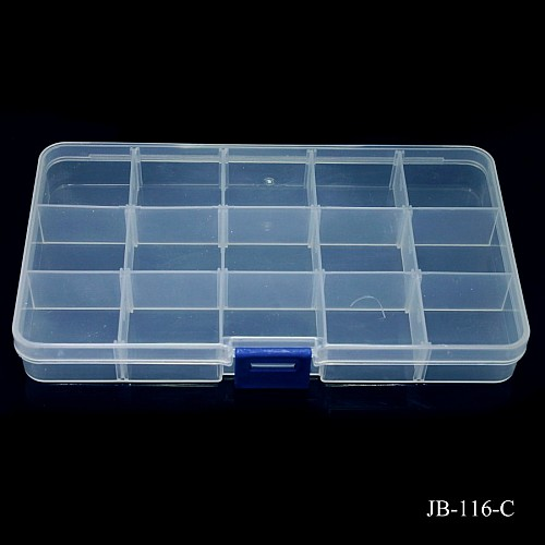Plastic Storage Box with many compartments JB-116-C