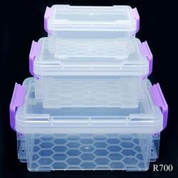 Plastic Storage Boxes - 3 pcs set (R700)