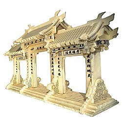 A4 3D wooden puzzle Kit - Chinese Paifang