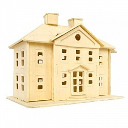 A4 3D wooden puzzle Kit - Country Mansion