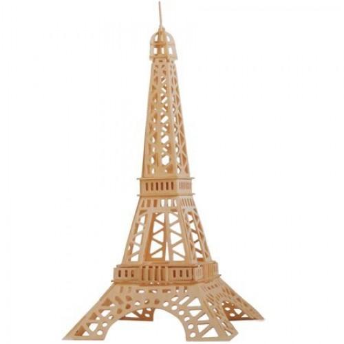 A4 3D wooden puzzle Kit - Eiffel Tower