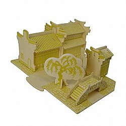 A4 3D wooden puzzle Kit - Water Towns B