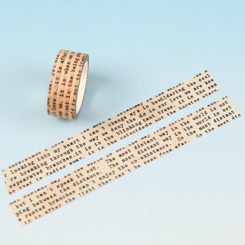 Washi Tape - Newspaper Print