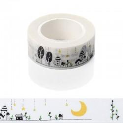 Washi Tape - Doodled Scene