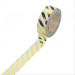 Foiled Washi Tape - Striped