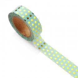 Foiled Washi Tape - Polka Dots (Mint)