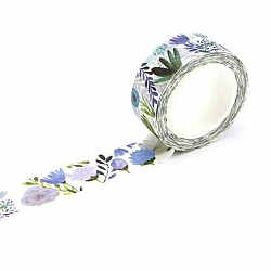 Washi Tape - Blue tropical Florals