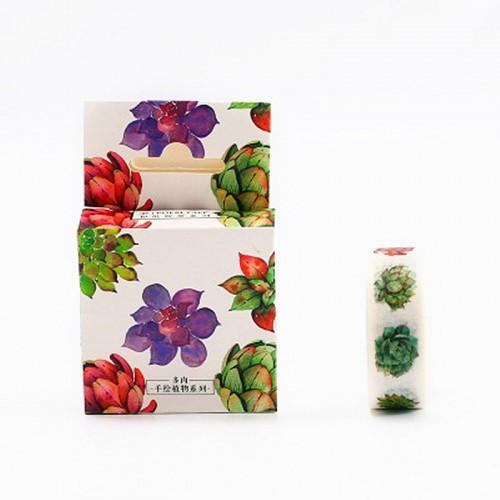 Colorful Succulents - Japanese Washi Tape