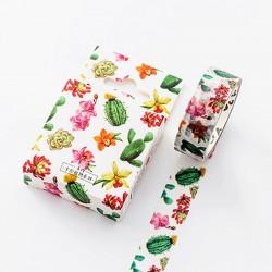Colorful Cacti - Japanese Washi Tape