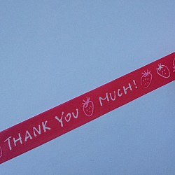 Thank You- Red and White - Japanese Washi Tape