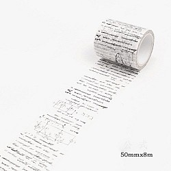 Script Letters - Japanese Washi Tape (50 mm by 8m)
