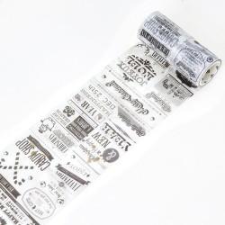 Newsprint - Japanese Washi Tape (10 cm by 5 m)