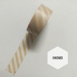 Light peach striped Washi Tape