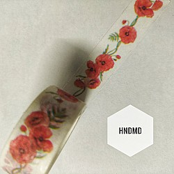 Red Poppies Washi Tape