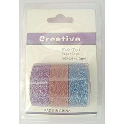 Creative Glittered Washi Tapes (Pack of 3 tapes) - Design 1