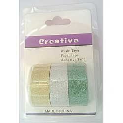 Creative Glittered Washi Tapes (Pack of 3 tapes) - Design 2