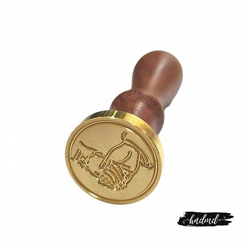 Wax Seal Stamp - Couple Hands