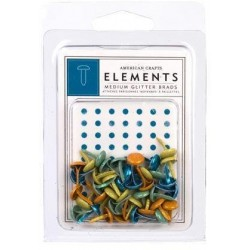 American Crafts Confetti Medium Glitter Brads