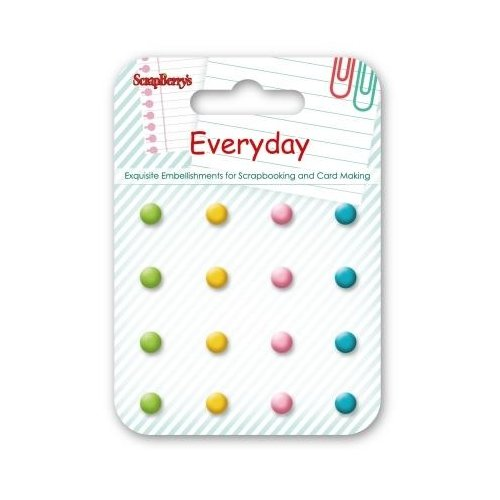 Scrapberrys 16 Enamel Brads - Everyday