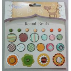 Papus Brads - Round Brads 2