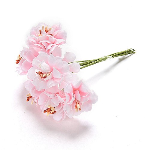 Artifical flowers - Pink (Pack of 6 flowers)
