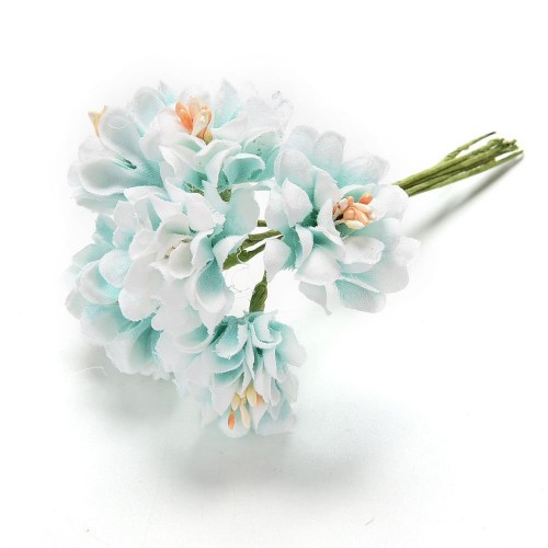 Artifical flowers - Light Blue (Pack of 6 flowers)