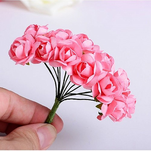 Mulberry Paper Roses - Pink (Pack of 24 roses)