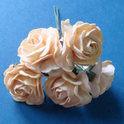 Mulberry Paper Roses (Large) - Cream