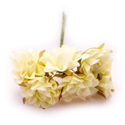 Artifical fabric flowers - Cream (Pack of 12 flowers)
